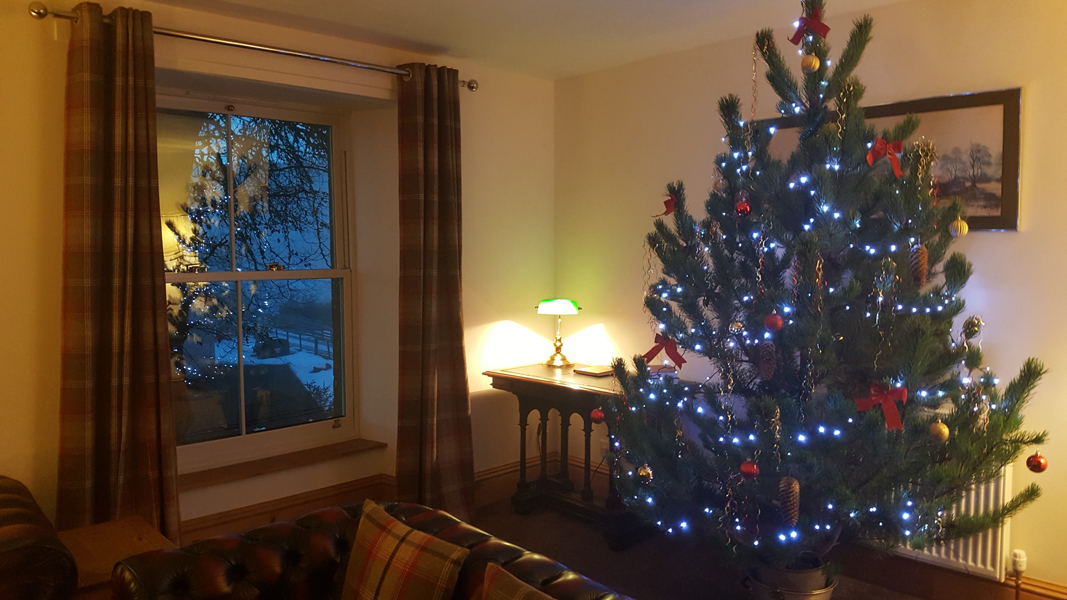 Christmas at Old Convent Holiday Apartments near Loch Ness Scotland